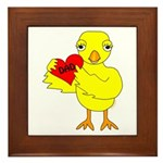 Dad Heart Chick Framed Tile