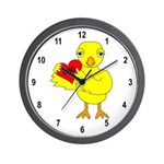 Dad Heart Chick Wall Clock