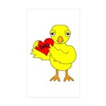 Dad Heart Chick Sticker (Rectangle 50 pk)