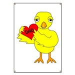 Dad Heart Chick Banner