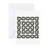 Celtic Square Knot (Stone) Greeting Cards (Pk of 2