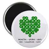 "Celtic Heart (Green) 2.25"" Magnet (100 pack)"