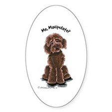 Chocolate Labradoodle Manipulate Decal