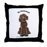 Chocolate Labradoodle Throw Pillow