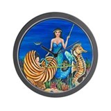 A Mermaids Fairy Godmother Wall Clock