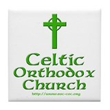 Celtic Orthodox Church Tile Coaster