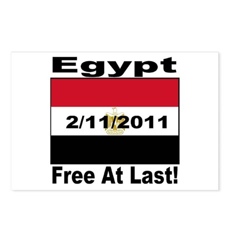 Egypt Free At Last 2/11/2011 Postcards (Package of