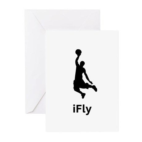 Basketball iFly Greeting Cards (Pk of 10)