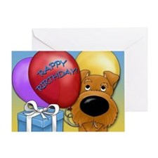Irish Terrier Birthday Greeting Card