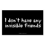 Invisible Friends Rectangle Bumper Stickers