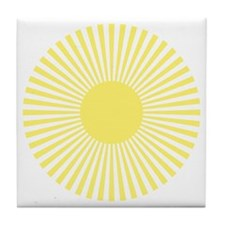 Lemon Burst Tile Coaster