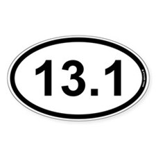 13.1 Half Marathon Stickers