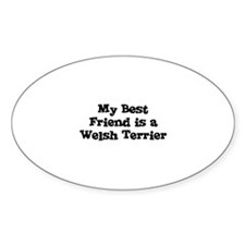 My Best Friend is a Welsh Ter Oval Decal