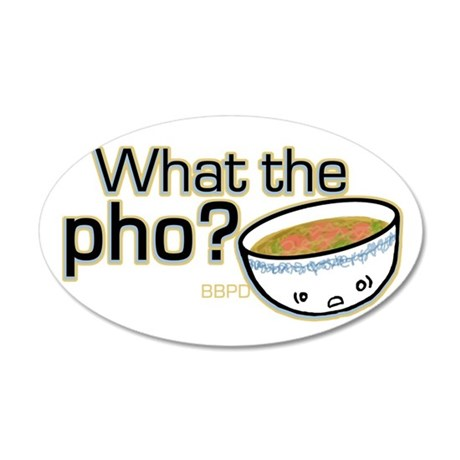 What the Pho 22x14 Oval Wall Peel