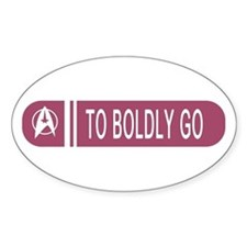 To Boldly Go Decal