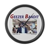 Geezer Bandit Large Wall Clock