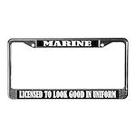 Funny Marine License Frame