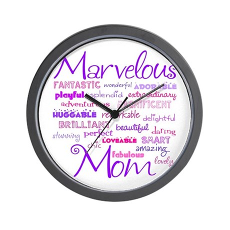 Marvelous Mom (Mother) Wall Clock