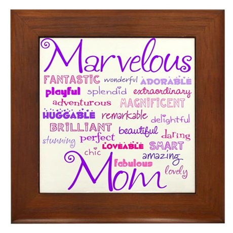 Marvelous Mom (Mother) Framed Tile