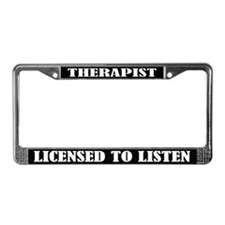 Therapist License Frame