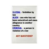 Illegal alien Rectangle Magnet