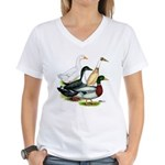Duck Quartet Women's V-Neck T-Shirt