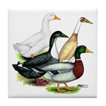 Duck Quartet Tile Coaster