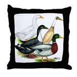 Duck Quartet Throw Pillow