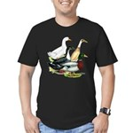 Duck Quartet Men's Fitted T-Shirt (dark)
