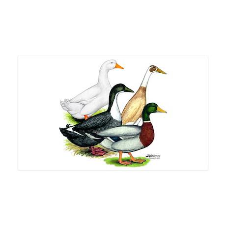 Duck Quartet 38.5 x 24.5 Wall Peel