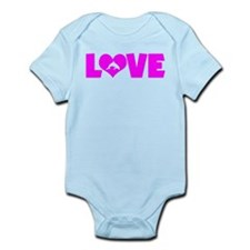 LOVE DOLPHINS Infant Bodysuit