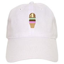 Cute 4th Birthday Baseball Cap