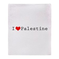 I (lheart) Palestine Throw Blanket