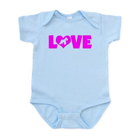 LOVE SCHNAUZER (MINIATURE) Infant Bodysuit
