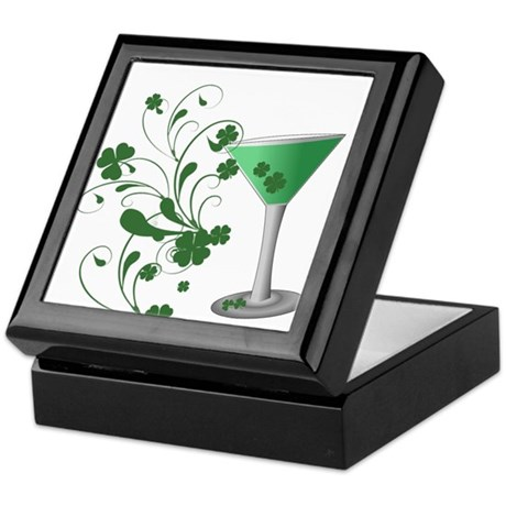 St. Patrick's Day Martini Keepsake Box