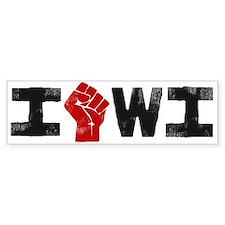 Solidarity Wisconsin Bumper Sticker