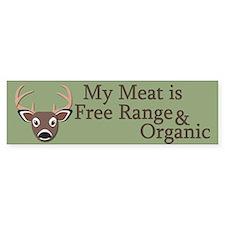 Free Range and Organic Car Sticker