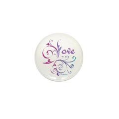 Love French Curve Mini Button (10 pack)