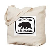 Cute California surfing bear Tote Bag