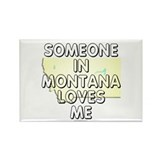 Someone in Montana Rectangle Magnet (10 pack)