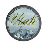 Utah Mountains Wall Clock