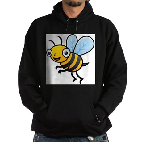 Happy Honey Bee Hoodie (dark)