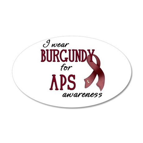 Wear Burgundy - APS 22x14 Oval Wall Peel