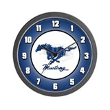 Mustang - Grunge Wall Clock
