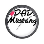 Dads Mustang Wall Clock