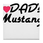 Dads Mustang Tile Coaster
