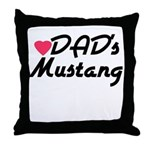 Dads Mustang Throw Pillow