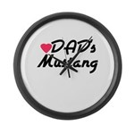 Dads Mustang Large Wall Clock