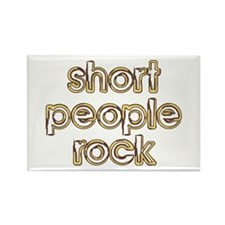Short People Rock Rectangle Magnet (10 pack)
