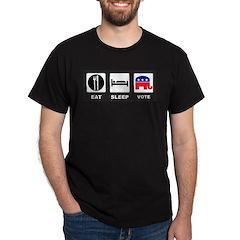 Eat Sleep Vote Conservative Dark T-Shirt
